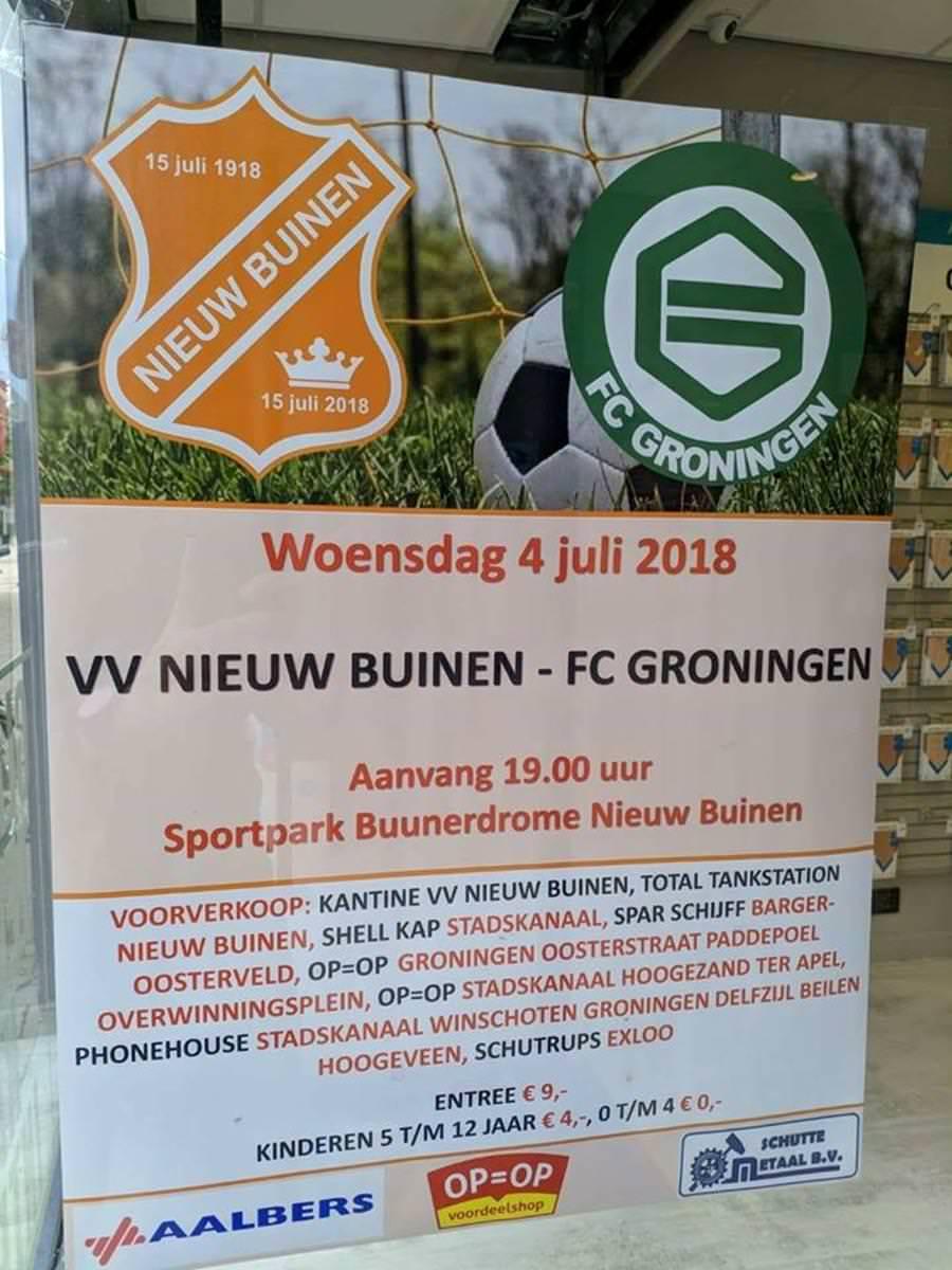 VV Nieuw Buinen - Fc Groningen